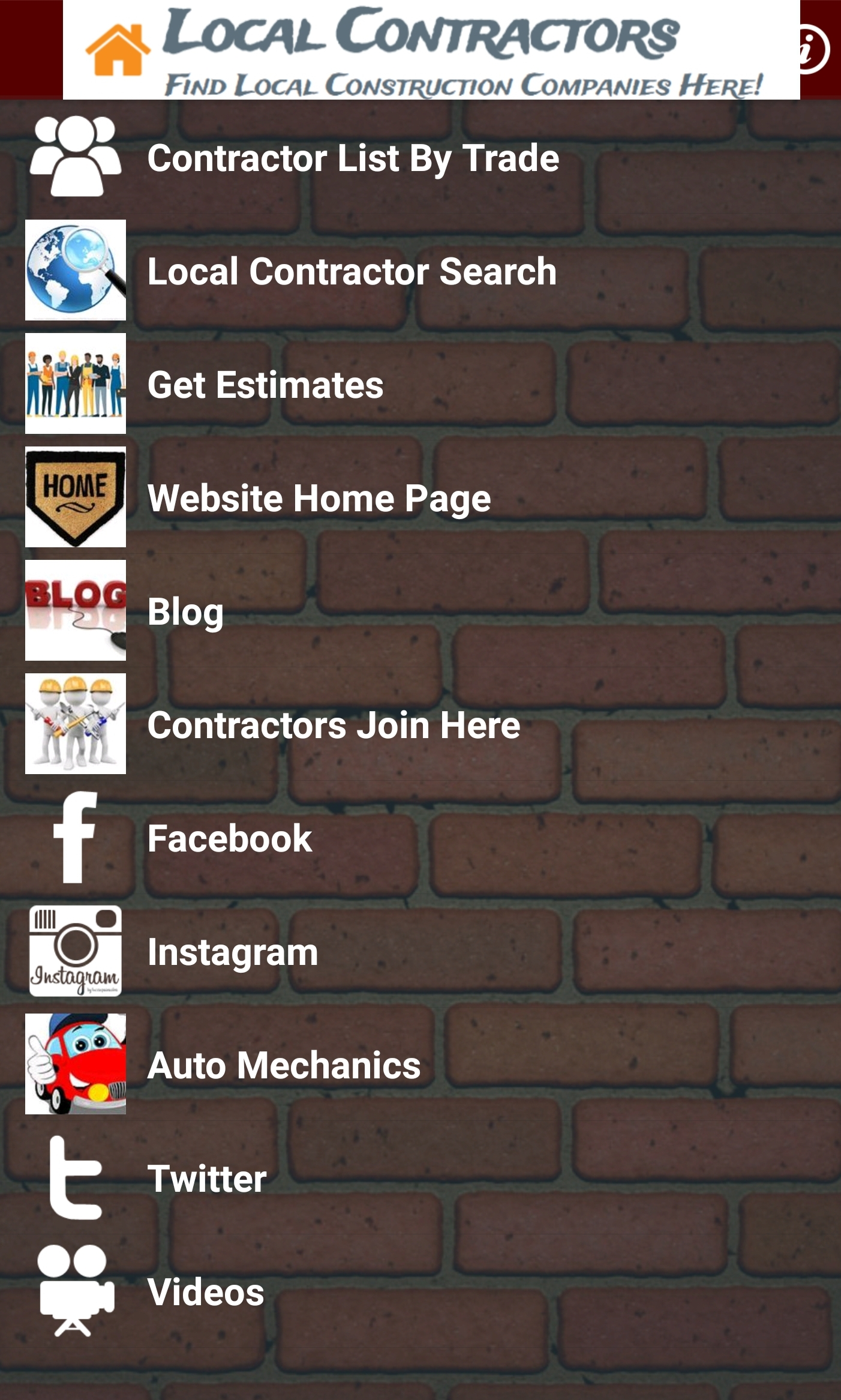Local Contractors App
